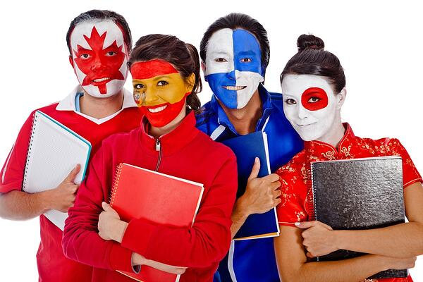 students-with-painted-flag-makeup
